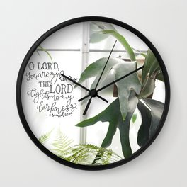 You are my Lamp  |  2 Samuel 22:29 Wall Clock