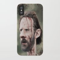 rick grimes iPhone & iPod Cases featuring Rick Grimes by dbruce