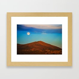 The Moonlit Red Hill Framed Art Print