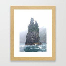 Alaskan Fjords Pillar - 1 Framed Art Print