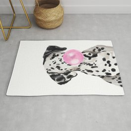 Dalmatian Blowing Bubble Gum Rug