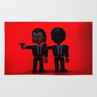 pulp fiction Area & Throw Rugs featuring Toy Pulp Fiction by Simon Candle