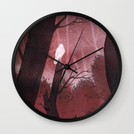 White crow in automn Wall Clock