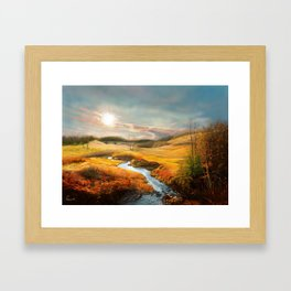 A Gleam To Watch Over the Fields Framed Art Print