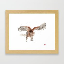 Hawk on the Hunt Framed Art Print