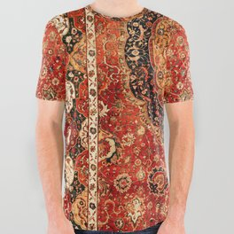 Seley 16th Century Antique Persian Carpet All Over Graphic Tee