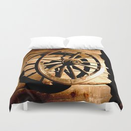 Old Cartwheel #decor #society6 Duvet Cover