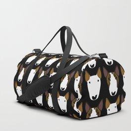 Luna and Storm on black Duffle Bag