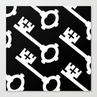 black keys Canvas Prints featuring Keys by Alexander Studios