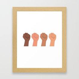 Female Power Pattern 4 Framed Art Print