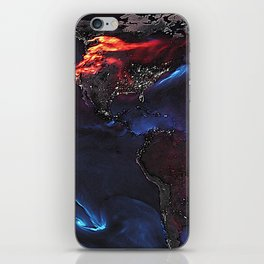 Beauty of Pollution / Aerosol Earth - Western Part iPhone Skin