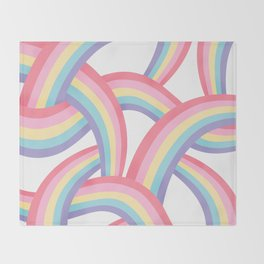 Rainbow abstract pattern Throw Blanket