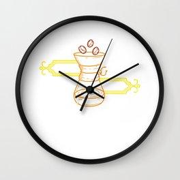 Coffee Diem Barista Cafe Worker Roaster Brewer Wall Clock
