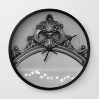 ornate Wall Clocks featuring Ornate by Cassidy Marshall