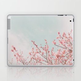 Pink Flowers in the Sky Laptop & iPad Skin