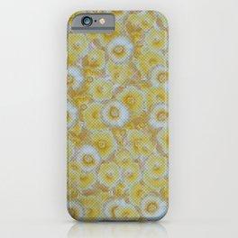 Halftone Pansies Mustard iPhone Case