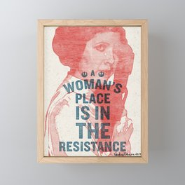 A Woman's Place Framed Mini Art Print