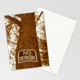 Sepia No Trespassing Stationery Cards