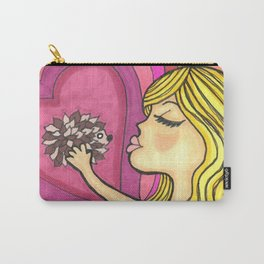 Girl Kissing Hedgehog Carry-All Pouch