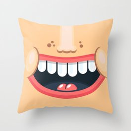 Just smile :) Throw Pillow