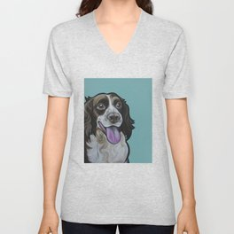 Bea the Springer Spaniel Unisex V-Neck