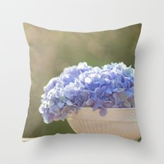 Hydrangea Bowl Throw Pillow