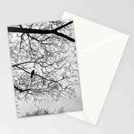 Natural Fractal and the Crow Stationery Cards