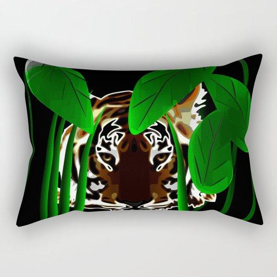 Tiger In the Night Rectangular Pillow