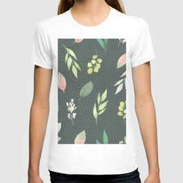 Succulent, green, floral T-shirt