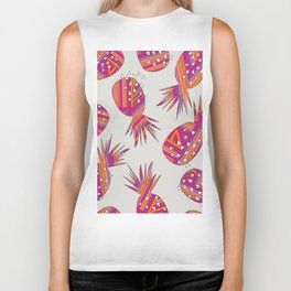 Geometric Pineapples Summer Print Biker Tank