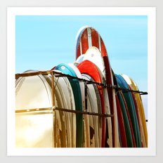 Surfboards Art Print