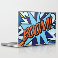 comic book Laptop & iPad Skins featuring Comic Book BOOM! by The Image Zone