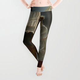 Young Woman Drawing - Marie Denise Villers Leggings