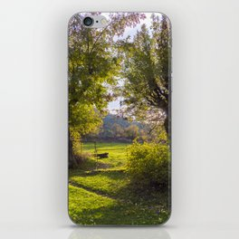 Forest, sunset, art photography at the bulgarian village Lisicite iPhone Skin