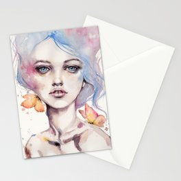With Elegance (female Portrait) Stationery Cards