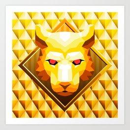 Lion Trophy Mountain 2 Art Print