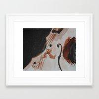 violin Framed Art Prints featuring violin by Anja Kidrič AdAk
