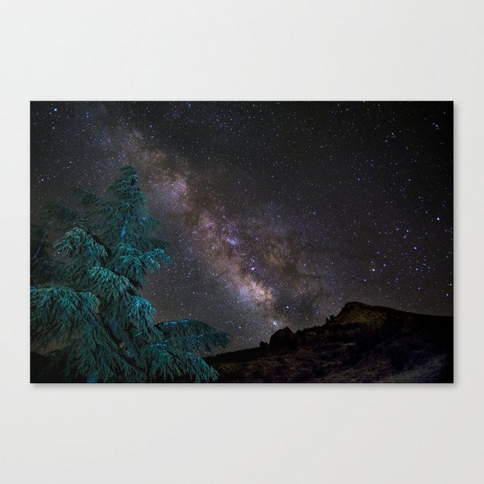"""""""Milky-way at the mountains"""". Summer  Canvas Print"""