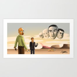 Breaking Bad: Walter's Adversaries  Art Print