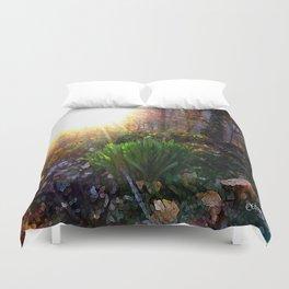 'Sun Awakening Sleeping Daffodils' Duvet Cover