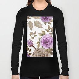 FLOWERS WATERCOLOR 9 Long Sleeve T-shirt