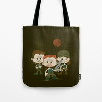 military Tote Bags featuring The Military by DoodleHeadDee