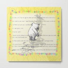 Thinking Bear Metal Print