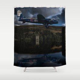 Dambuster practice Shower Curtain