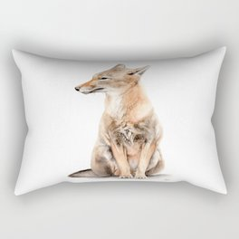 Fox Watercolor Rectangular Pillow