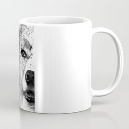 Australian Shepherd Dog Half Face Portrait Coffee Mug