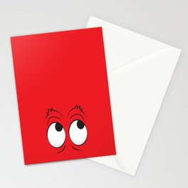 Monster Eyes Red Stationery Cards