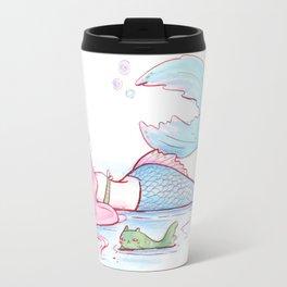 Sulking Mermaid and Catfish Travel Mug