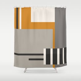 PLUGGED INTO LIFE (abstract geometric) Shower Curtain