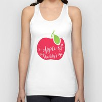 """onesie Tank Tops featuring """"Apple of My Daddy's Eye"""" Onesie by Spilling Beans"""